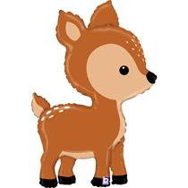 """Cute Woodland Deer 39"""" Foil Balloon"""