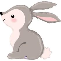 "Cute Woodland Bunny Rabbit 36"" Foil Balloon"