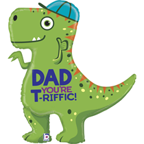 """Father's Day Dad T-Rex 35"""" Foil Balloon"""