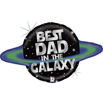 """Father's Day Best Dad Galaxy 31"""" Foil Balloon"""