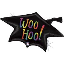 "Rainbow Graduation Cap 33"" Foil Balloon"