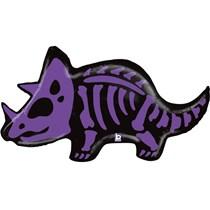 "Triceratops Dinosaur Skeleton 41"" Foil Balloon"