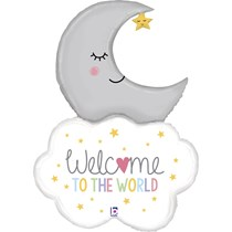 """Welcome To The World Baby 42"""" Foil Balloon"""