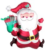 "Christmas Running Santa 30"" SuperShape Foil Balloon"