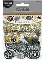 Gold Celebration 60th Birthday 3 Variety Confetti