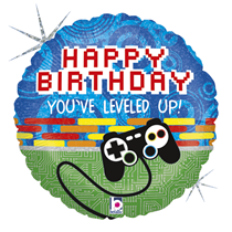 "Level Up Birthday 18"" Foil Balloon"
