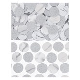 Silver Foil Circle 20mm Confetti 63grams