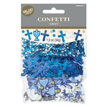 First Communion Blue Foil Confetti (3 types) 36g