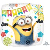 "Despicable Me Minions Hooray 18"" Square Foil Balloon"
