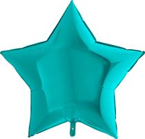 "Tiffany 36"" Foil Star Balloon"