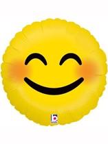 """Smiling Blushing Emoji 18"""" Foil Balloon"""