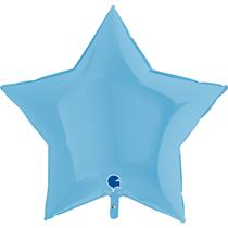 "Pastel Matte Blue 36"" Star Foil Balloon"