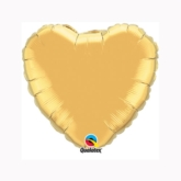 "Metallic Gold 9"" Heart Foil Balloon"