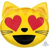 "Cat Love Emoticon 22"" Foil SuperShape Balloon"