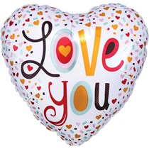 "Valentine's Love You 2-Sided 18"" Foil Heart Balloon"