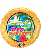 "Happy Retirement Sunshine 18"" Foil Balloon"