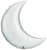 "Silver 35"" Crescent Moon Foil Balloon"