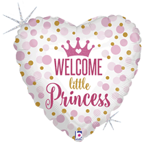 "Holographic Little Princess 18"" Heart Foil Balloon"