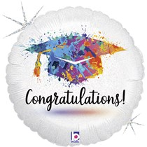 "Congratulations Grad Paint 18"" Foil Balloon"