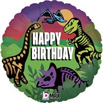 "Dinosaur Bones Birthday 18"" Foil Balloon"