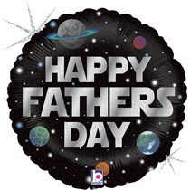 """Happy Father's Day Space 18"""" Foil Balloon"""