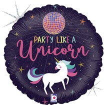 "Unicorn Disco Ball Party 18"" Foil Balloon"