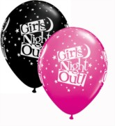 """Assorted Girls Night Out Stars 11"""" Latex Balloons 25pk"""
