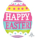 "Happy Easter Egg 16"" Shaped Foil Balloon"