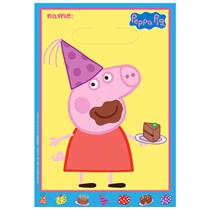 Peppa Pig Plastic Loot Party Bag 8pk