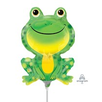 Mr Froggy Frog Mini Shape Foil Balloon (air fill)