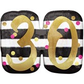 Pink & Gold 30th Birthday SuperShape Balloon