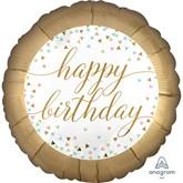 """Happy Birthday Confetti Fun 18"""" Foil Balloon"""