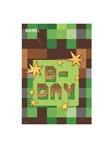 TNT Party Pixel Minecraft Party Bags 8pk