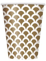 Gold Scallop Paper Cups 8pk