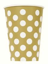 Gold Polka Dots 12oz Paper Cups 6pk