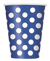 Blue Dots 12oz Large Paper Cups 6pk
