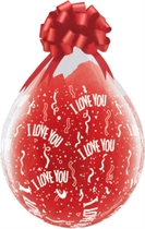"""Valentine's I love you 18"""" Clear Latex Stuffing Balloons 25pk"""