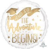 "The Adventure Begins 18"" Foil Balloon"