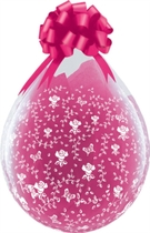 """Flowers A Round 18"""" Latex Clear Stuffing Balloons 25pk"""