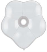 "6"" White GEO Blossom Latex Balloons 50pk"