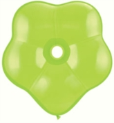 "16"" Lime Green GEO Blossom Latex Balloons 25pk"