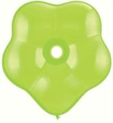 "16"" Lime Green GEO Blossom Latex Balloons 25pk"