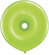 "16"" Lime Green GEO Donut Latex Balloons 25pk"