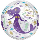 "Mermaid Wishes 16"" Orbz Foil Balloon"