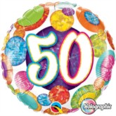 """18"""" 50th Birthday Holographic Foil Balloon"""