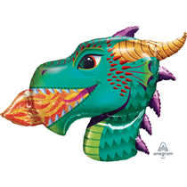 "Dragon Head 36"" Foil Balloon"