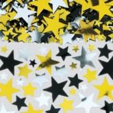 Black Gold & Silver Star Confetti 70g