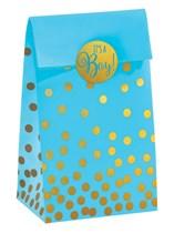 It's a Boy Blue Foil Stamped Paper Bags & Stickers 20pk