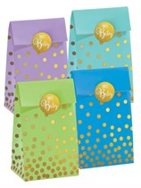 Assorted Baby Shower Foil Stamped Paper Bags 20pk
