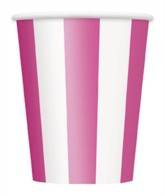 Pink Stripes 12oz Large Paper Cups 6pk